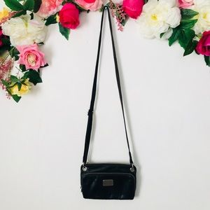 Fossil black vintage style leather Crossbody
